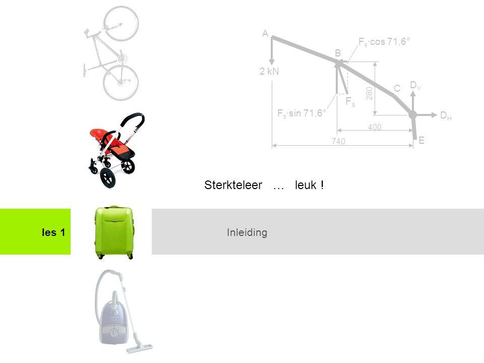 Het maken van een sterkteberekeningles 1 Oefening: denken als gewichtseconoom V = L x B x H (m) = 1,2 x 0,3 x 0,04 = 0,0144 m 3 massa ca.
