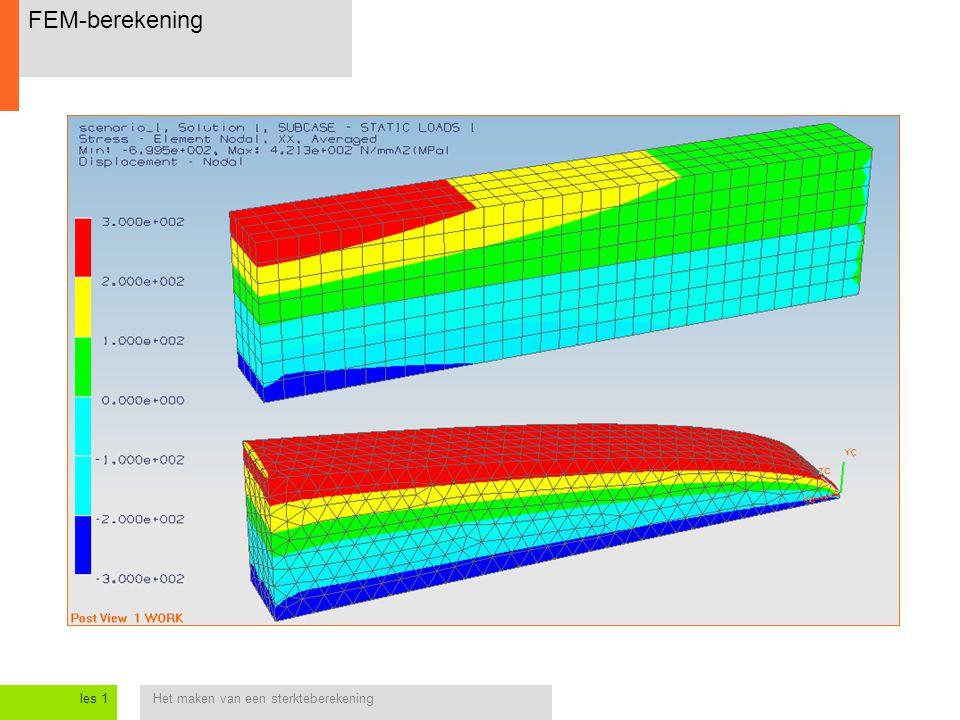 Het maken van een sterkteberekeningles 1 FEM-berekening
