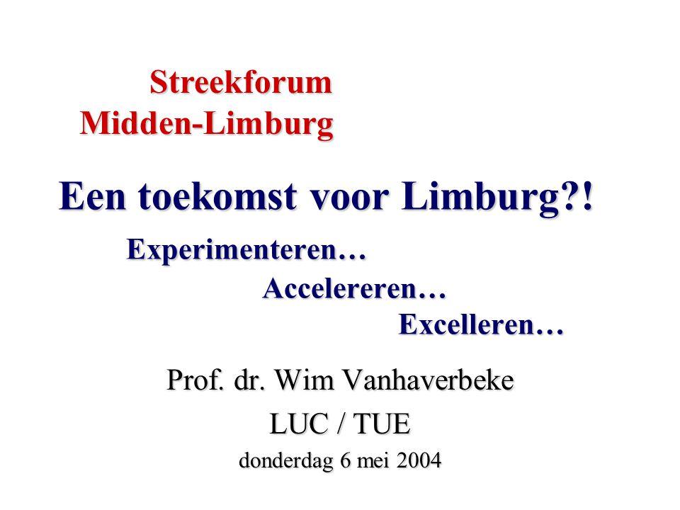Een toekomst voor Limburg . Experimenteren… Accelereren… Excelleren… Prof.