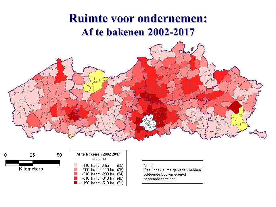 Ruimte voor ondernemen: Af te bakenen 2002-2017