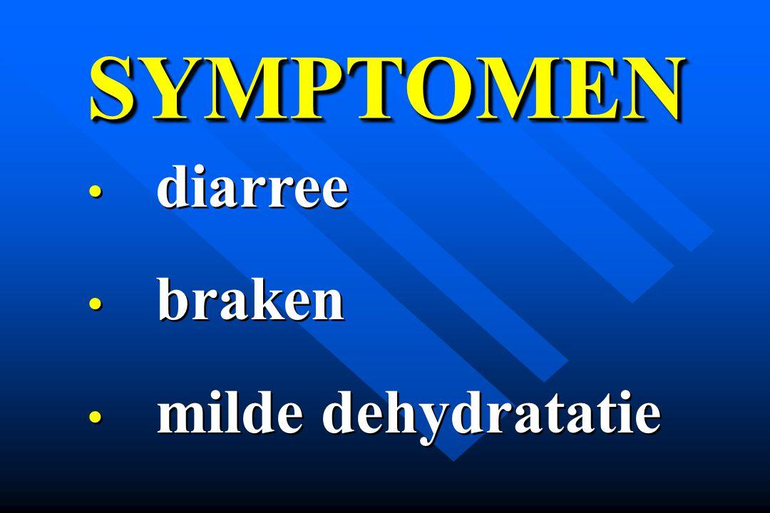 SYMPTOMENSYMPTOMEN diarree braken milde dehydratatie diarree braken milde dehydratatie