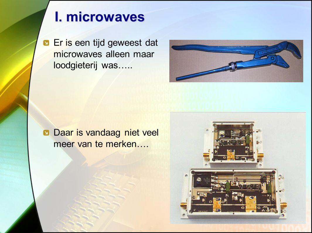 16 I.microwaves Er is een tijd geweest dat microwaves alleen maar loodgieterij was…..