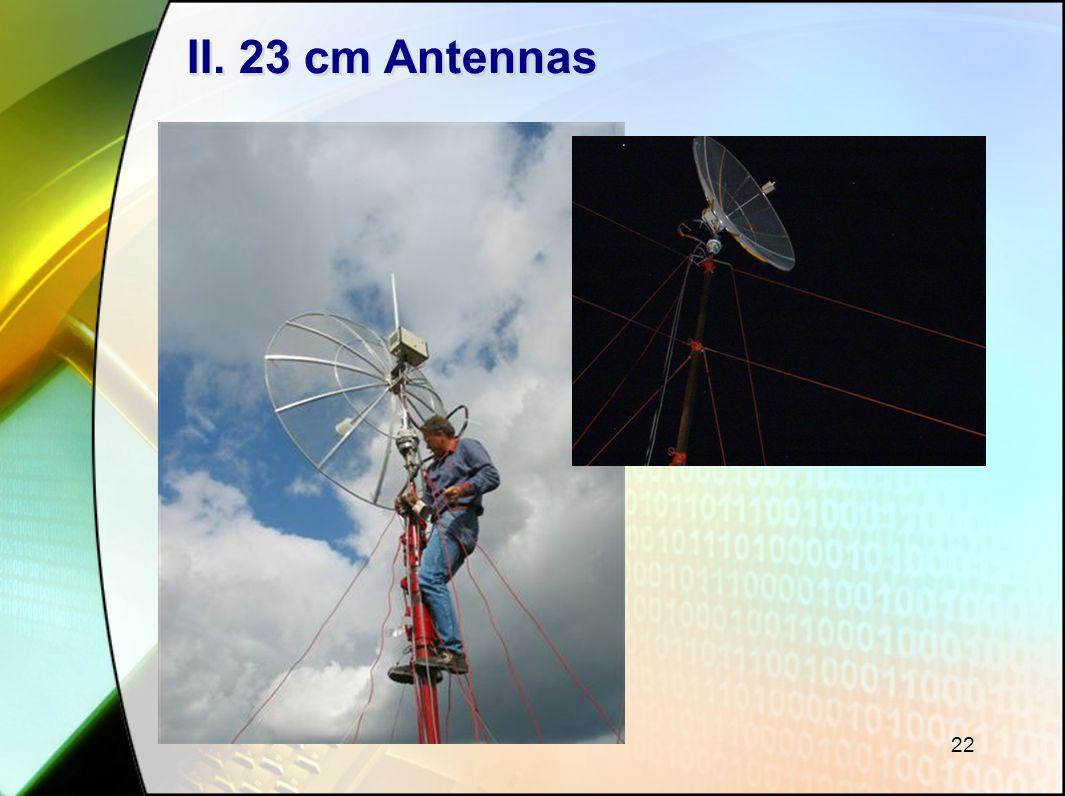 22 II. 23 cm Antennas
