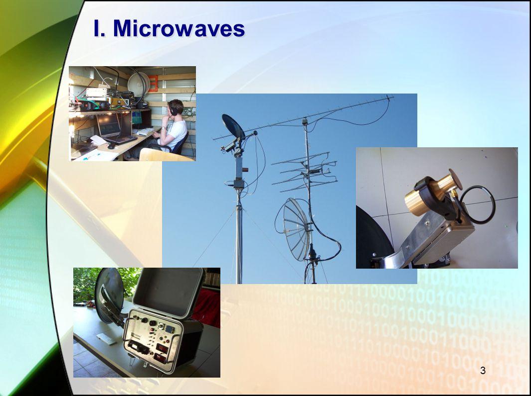 4 Frequenties: Vanaf 1 GHz / 1000 MHz / < 30 cm spreken we van Microgolven...