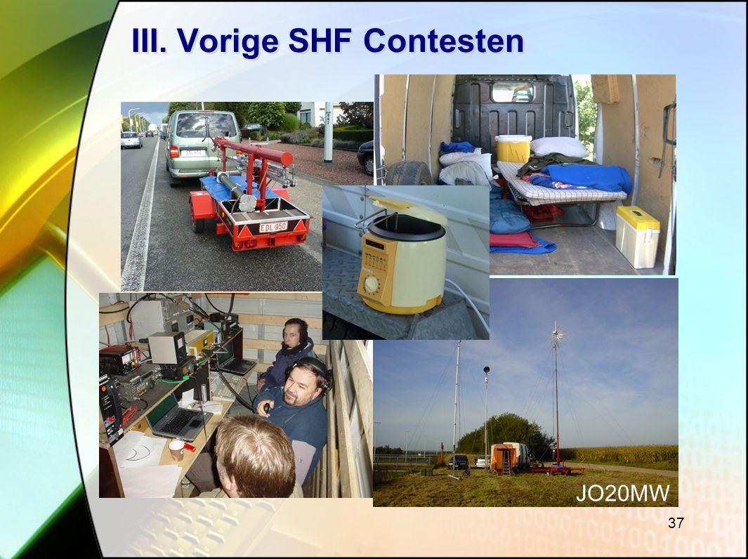 37 III. Vorige SHF Contesten JO20MW