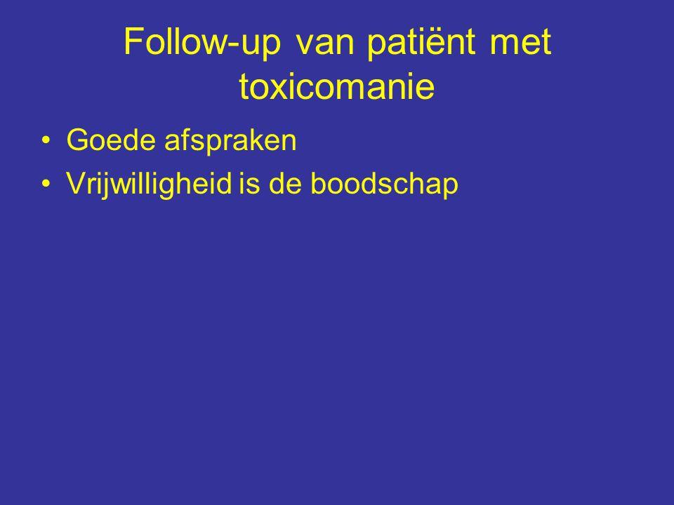 Follow-up van patiënt met toxicomanie Goede afspraken Vrijwilligheid is de boodschap