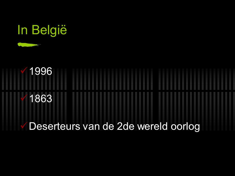 In België 1996 1863 Deserteurs van de 2de wereld oorlog