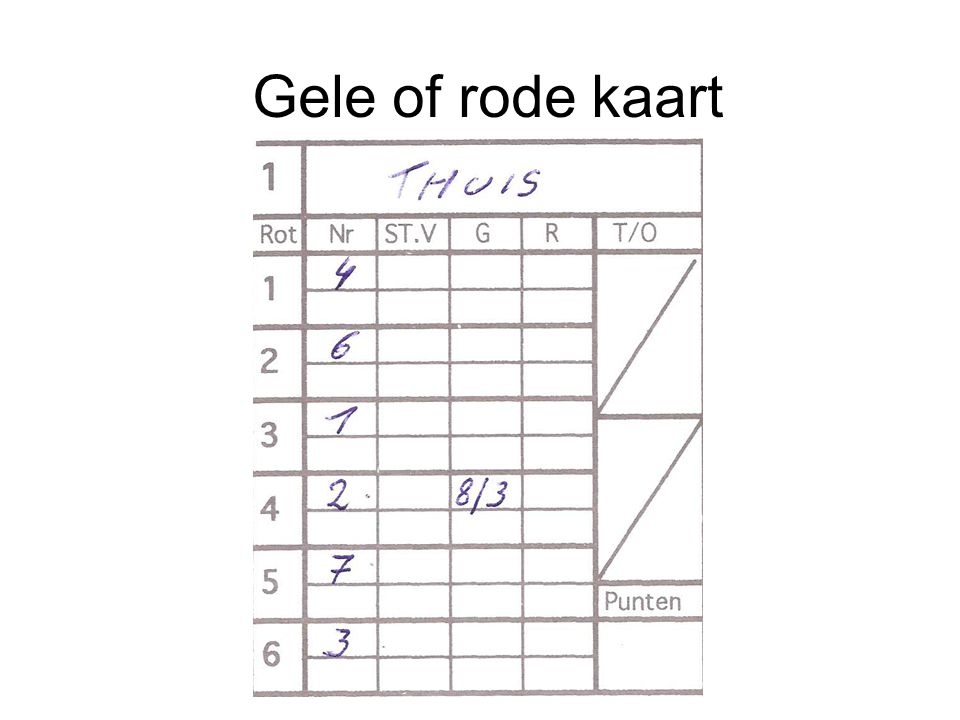 Gele of rode kaart