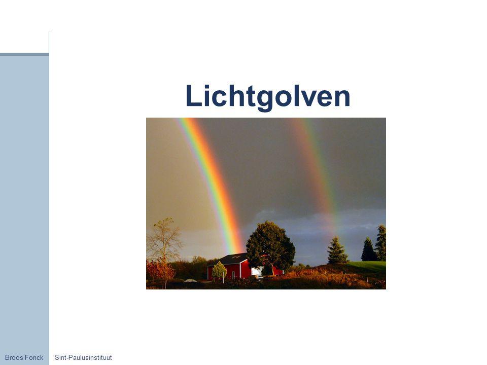 Broos Fonck Sint-Paulusinstituut Licht = energie Efoton = h.