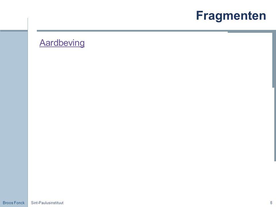 Broos Fonck Sint-Paulusinstituut19 Buiging Proef 1 & 2 Waarneming: We zien dat een vlakke trillingsbron en een reeks stiften die dicht bij elkaar geplaatst zijn op een trillende staaf aanleiding geven tot hetzelfde rechtlijnige golffront.