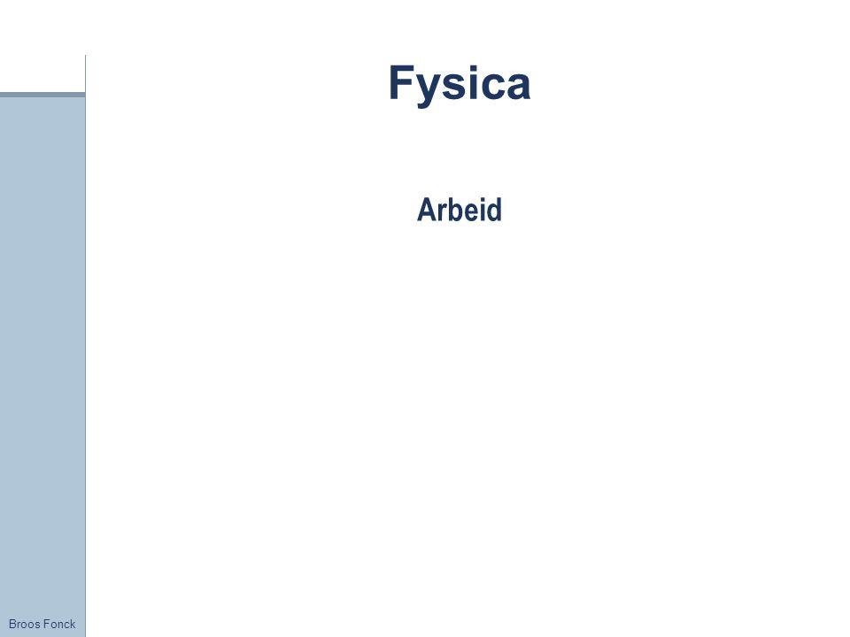 Broos Fonck Fysica Arbeid