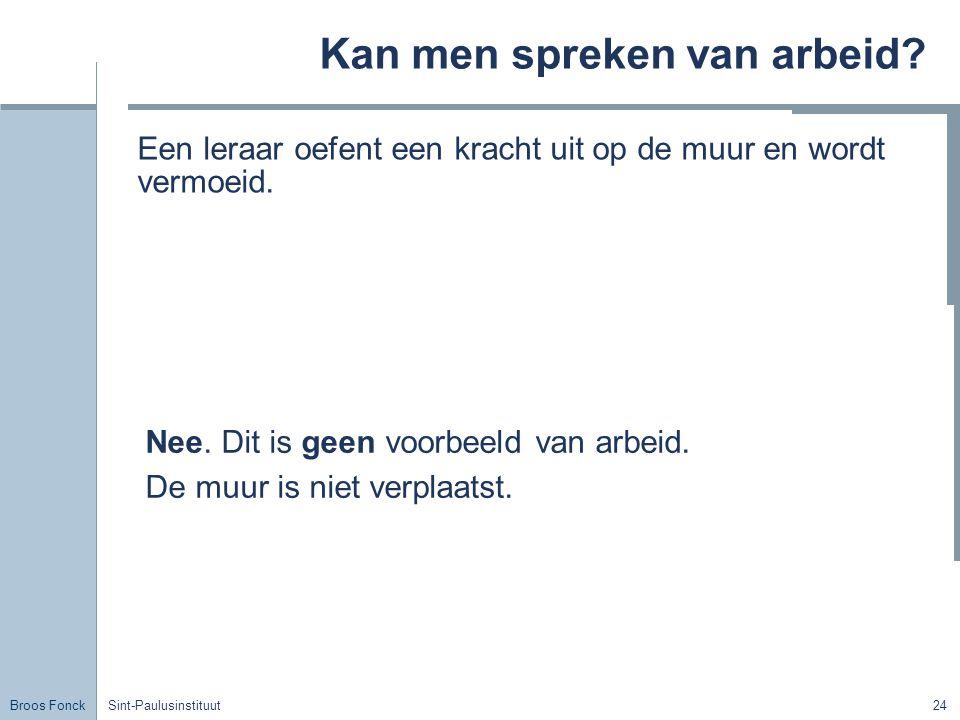 Broos Fonck Sint-Paulusinstituut24 Kan men spreken van arbeid.