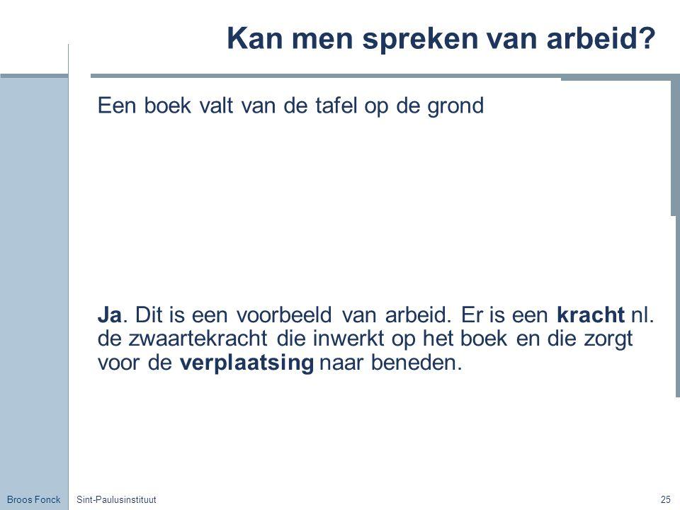 Broos Fonck Sint-Paulusinstituut25 Kan men spreken van arbeid.