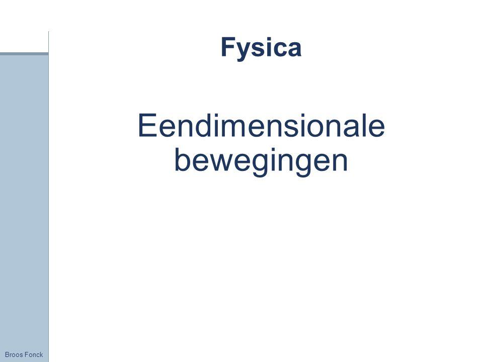 Broos Fonck Fysica Eendimensionale bewegingen