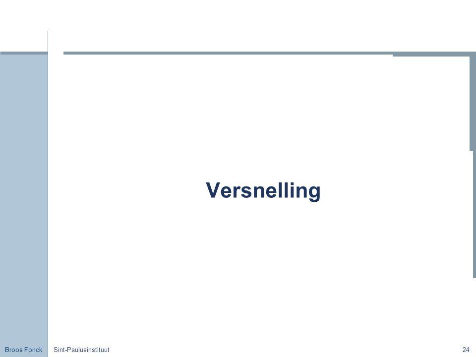 Broos Fonck Sint-Paulusinstituut24 Versnelling