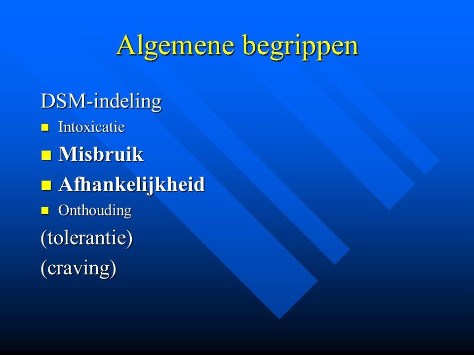 (3)Opiaten 3.2Afhankelijkheid en ontwenning 3.2Afhankelijkheid en ontwenning *duidelijke tolerantie *abstinentie( cold turkey ):dysforie,waterige ogen, neusloop,geeuwen,zweten,piloerectie rusteloosheid, tremor, nausea,diarree, spierkrampen, hypertensie,tachycardie spierkrampen, hypertensie,tachycardie >>abstinentie kan 7-10d duren >>zelden gevaarlijk(<>ethyl)