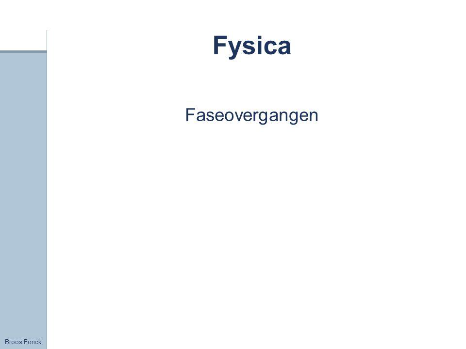 Broos Fonck Fysica Faseovergangen