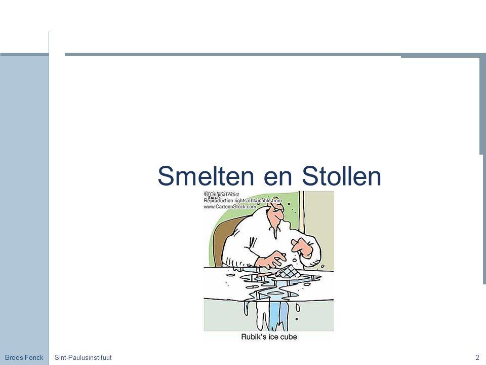 Broos Fonck Sint-Paulusinstituut2 Smelten en Stollen