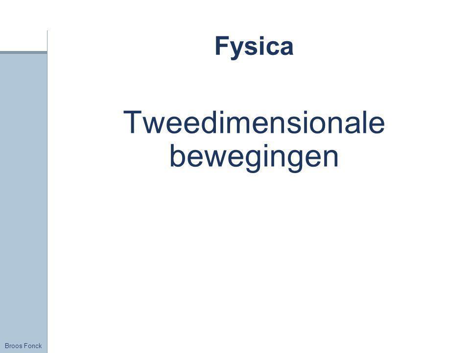Broos Fonck Fysica Tweedimensionale bewegingen