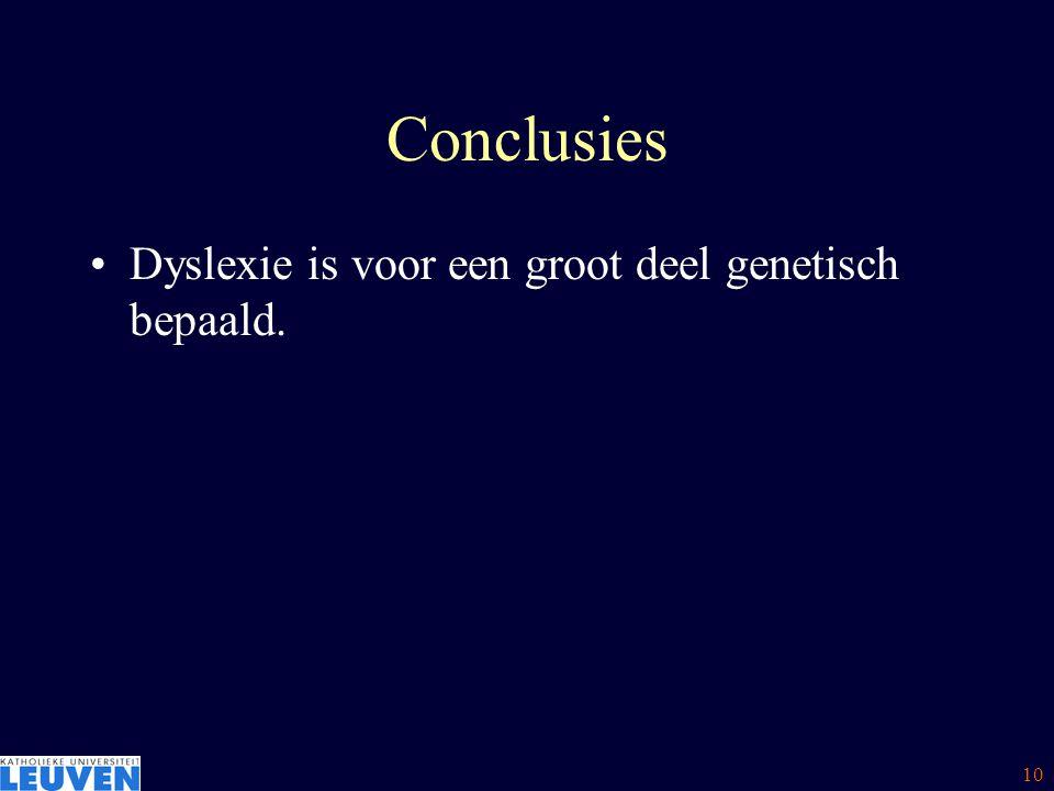 11 Overzicht Is dyslexie genetisch bepaald .