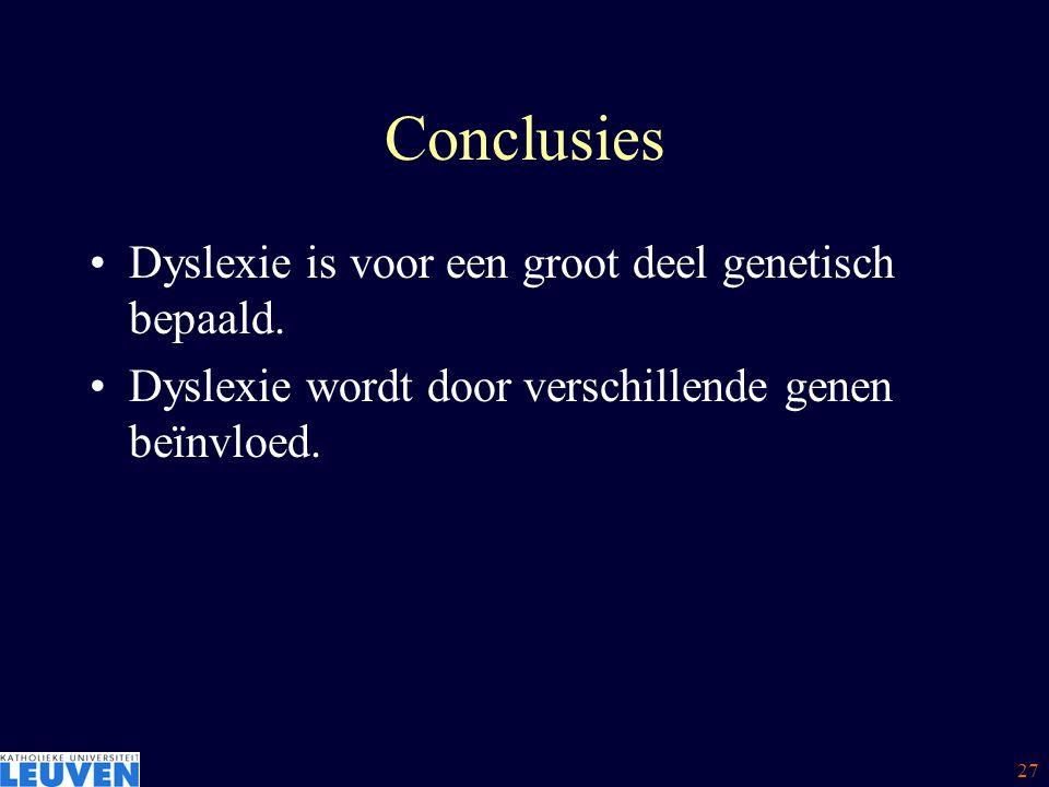 28 Overzicht Is dyslexie genetisch bepaald .