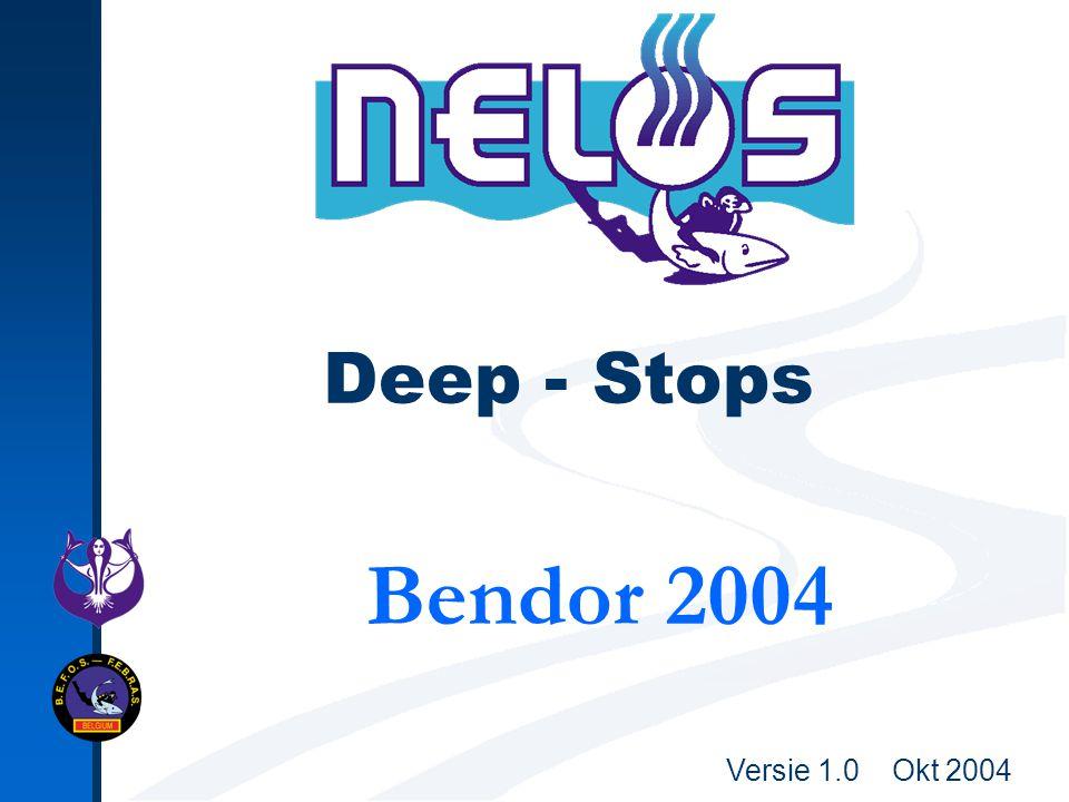 Versie 1.0 Okt 2004 Deep - Stops Bendor 2004