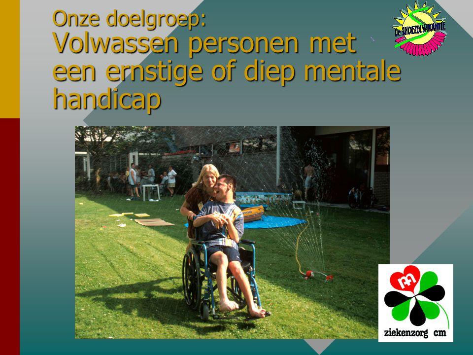 Onze doelgroep: Volwassen personen met een ernstige of diep mentale handicap
