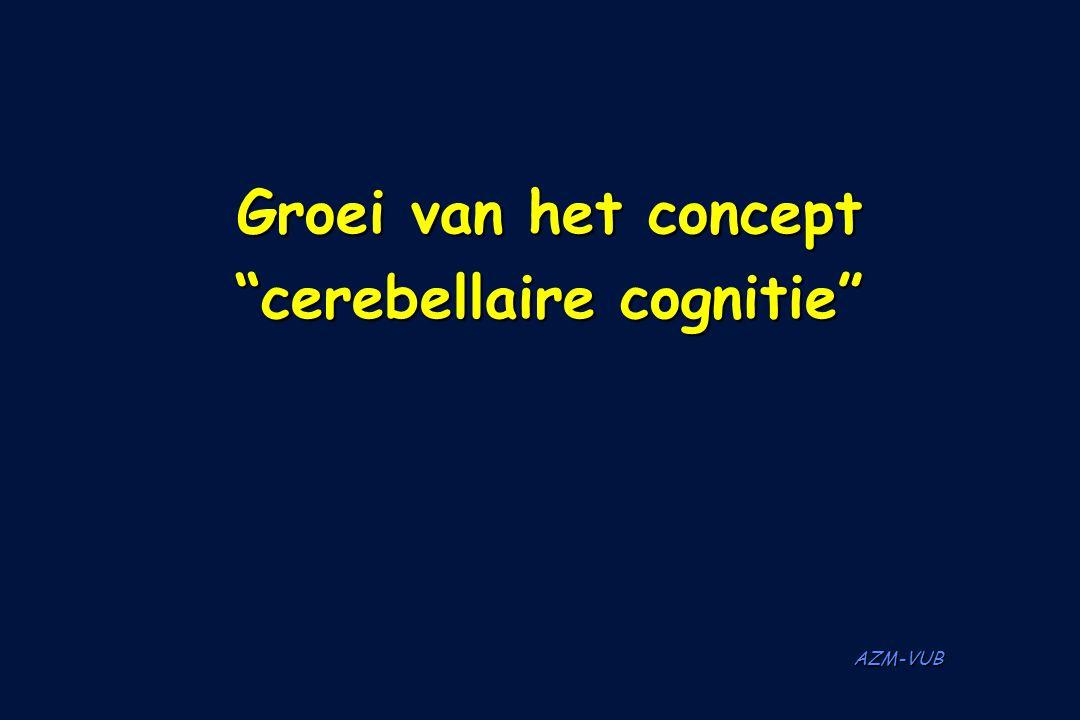 """AZM-VUB Groei van het concept """"cerebellaire cognitie"""""""