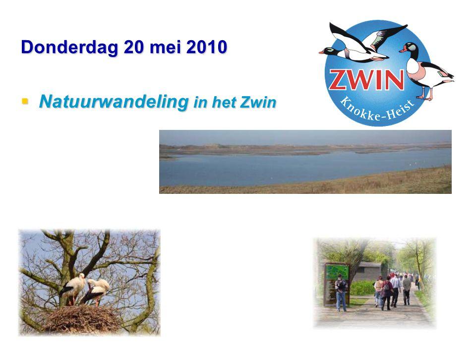Donderdag 20 mei 2010  Natuurwandeling in het Zwin