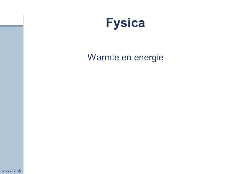 Broos Fonck Fysica Warmte en energie