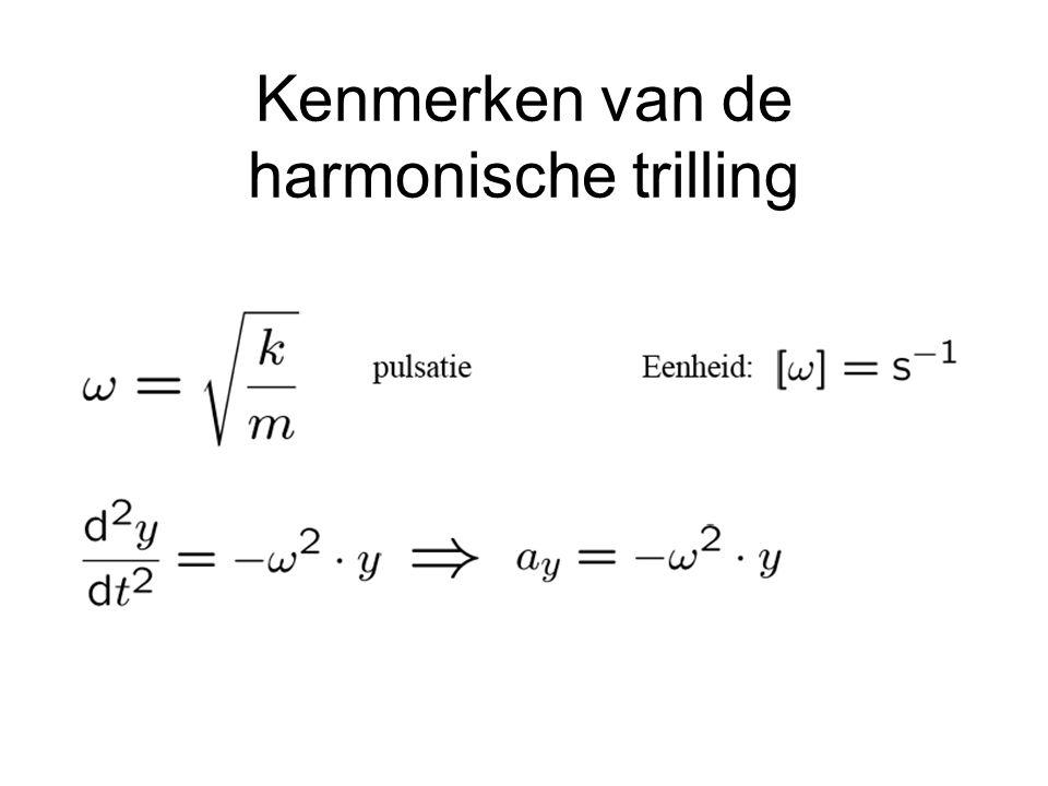 Kenmerken van de harmonische trilling