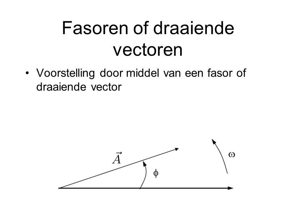 Fasoren of draaiende vectoren Voorstelling door middel van een fasor of draaiende vector