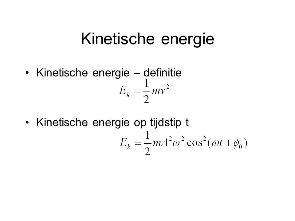 Kinetische energie Kinetische energie – definitie Kinetische energie op tijdstip t
