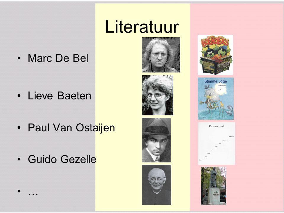 Literatuur Marc De Bel Lieve Baeten Paul Van Ostaijen Guido Gezelle …