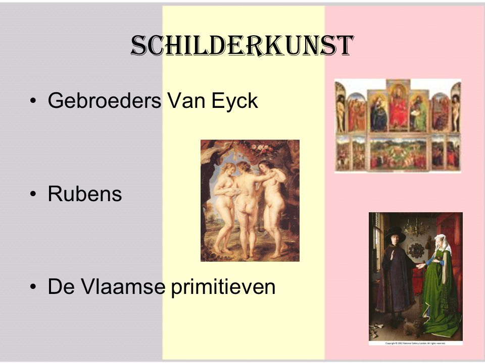 Schilderkunst Gebroeders Van Eyck Rubens De Vlaamse primitieven