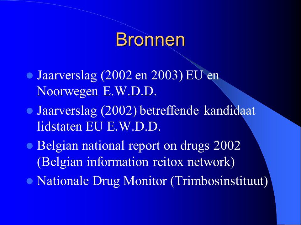 Bronnen Jaarverslag (2002 en 2003) EU en Noorwegen E.W.D.D.