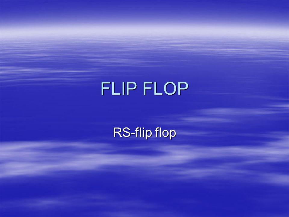 FLIP FLOP RS-flip flop