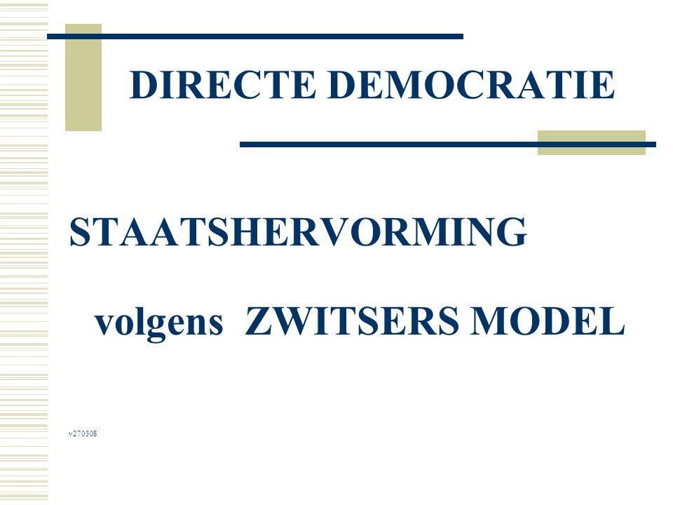 DIRECTE DEMOCRATIE STAATSHERVORMING volgens ZWITSERS MODEL v270308