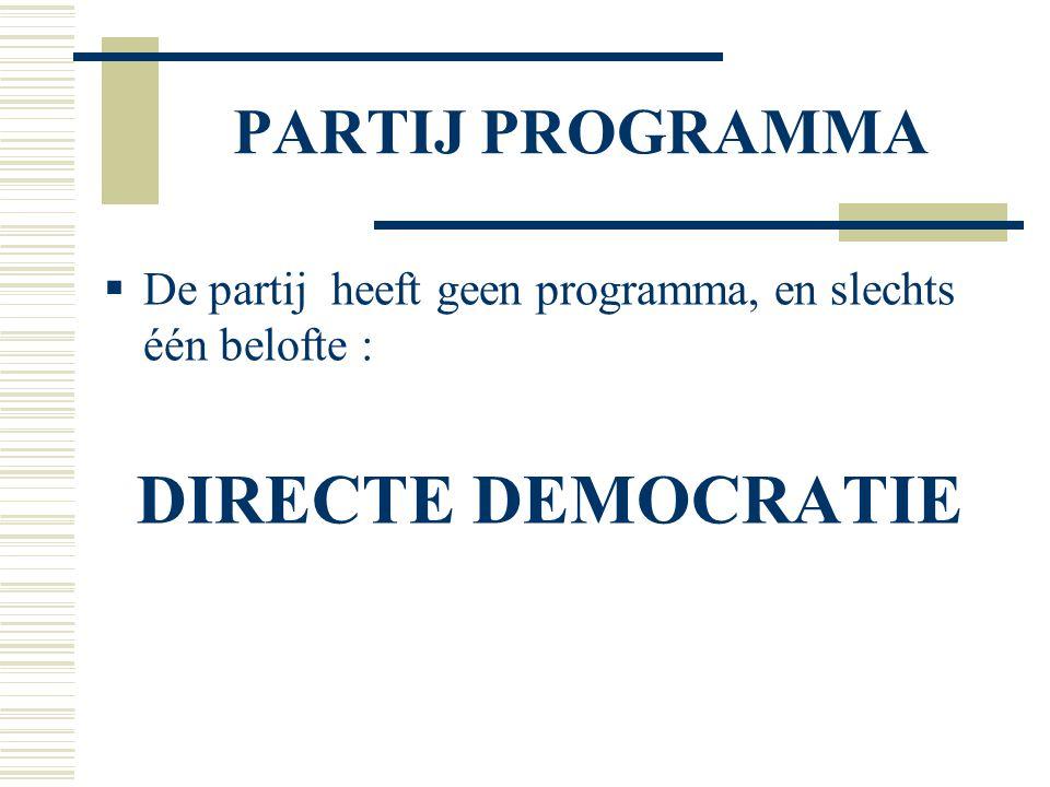 DEMO-EX BELGIE  Mogelijke oplossing:  De partij verbindt zich om haar standpunt enkel door de kiesgerechtigden te laten bepalen bij bindend referendum.