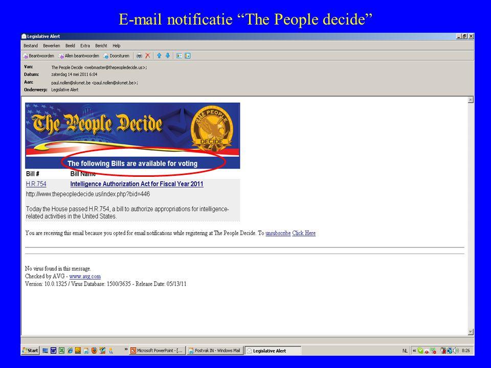 "E-mail notificatie ""The People decide"""