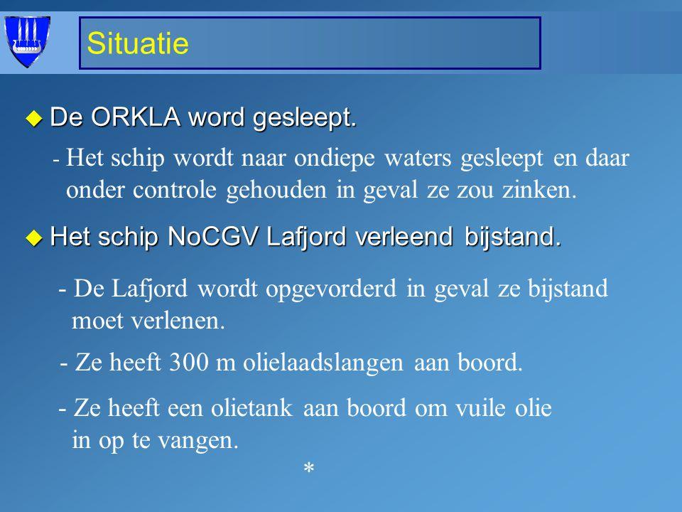 HNoMS Orkla MS NoCGV Svalbard HNoMS Bergen 26 FPB Sq NoCGV Volstad Jr HNoMS Orkla Word in 18m ondiep water gehouden in geval van