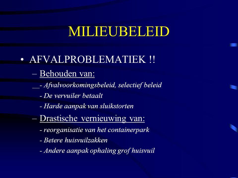MILIEUBELEID AFVALPROBLEMATIEK !.