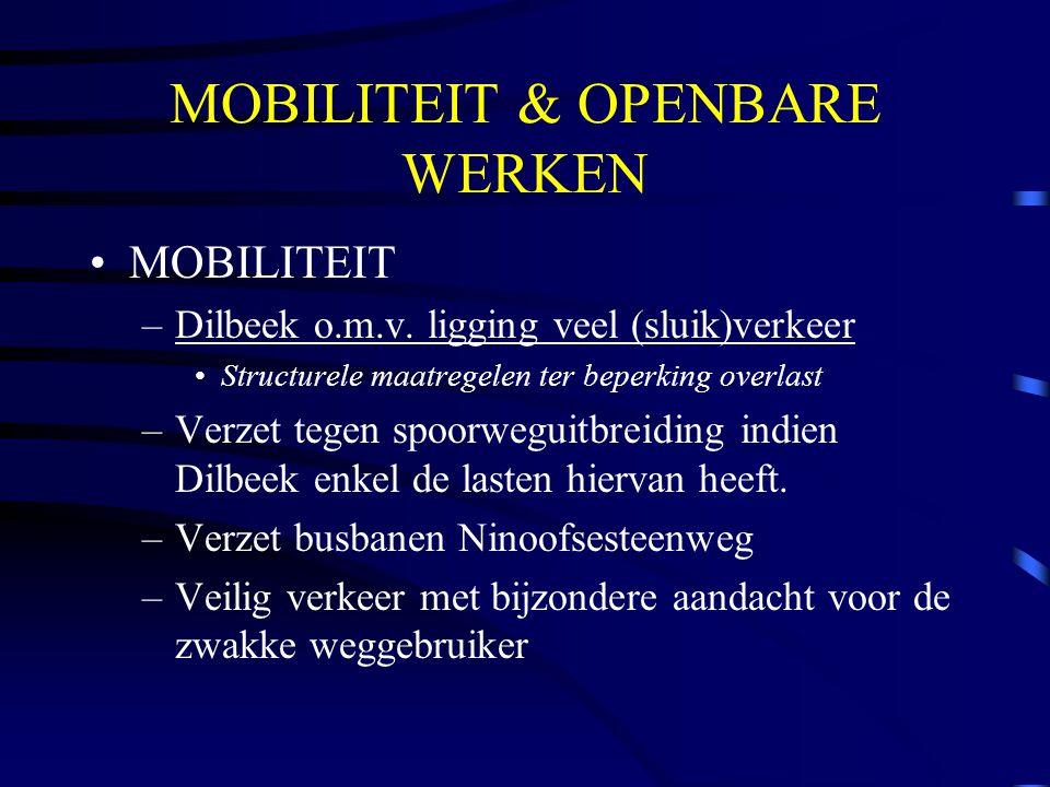 MOBILITEIT & OPENBARE WERKEN MOBILITEIT –Dilbeek o.m.v.