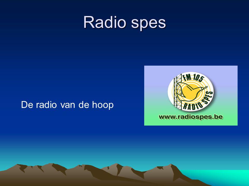 Radio spes De radio van de hoop