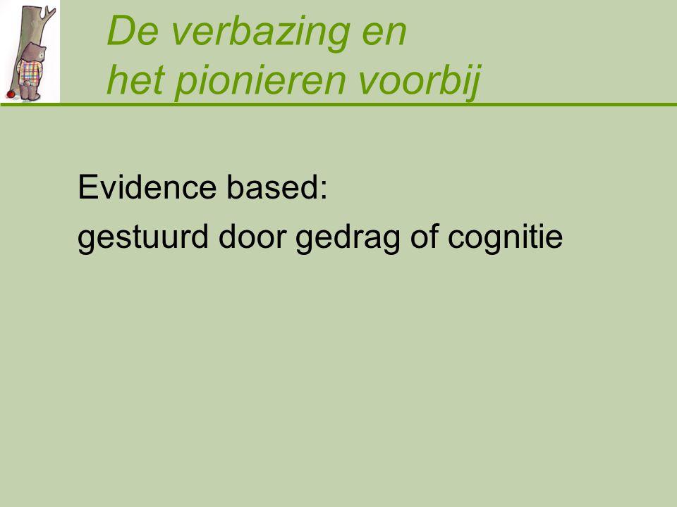 De verbazing en het pionieren voorbij Evidence based: gestuurd door gedrag of cognitie