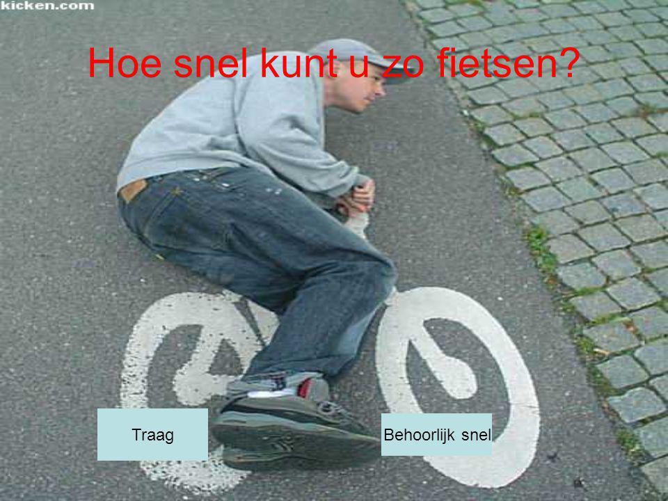 Hoe snel kunt u zo fietsen? Traag Behoorlijk snel