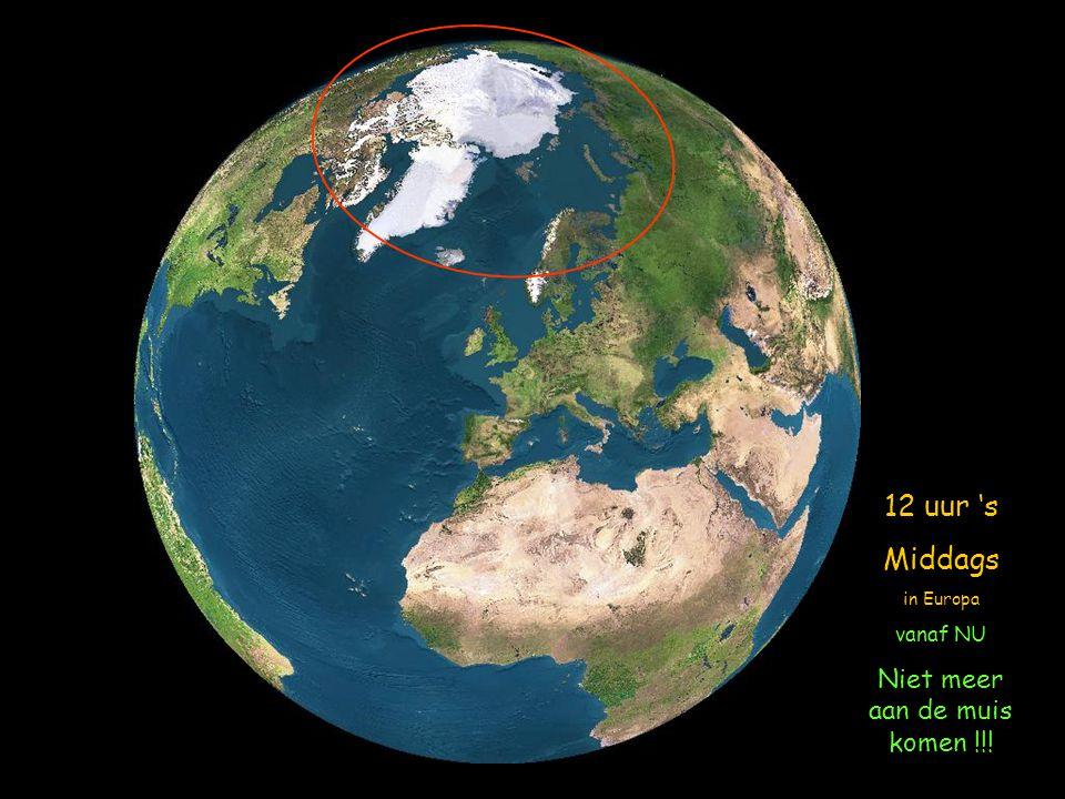 Wij gaan nu een filmpje zien vanaf de satelliet en zien hoe de Aarde wordt belicht op 21 Juni (langste dag en kortste nacht) voor de Noordelijkse half
