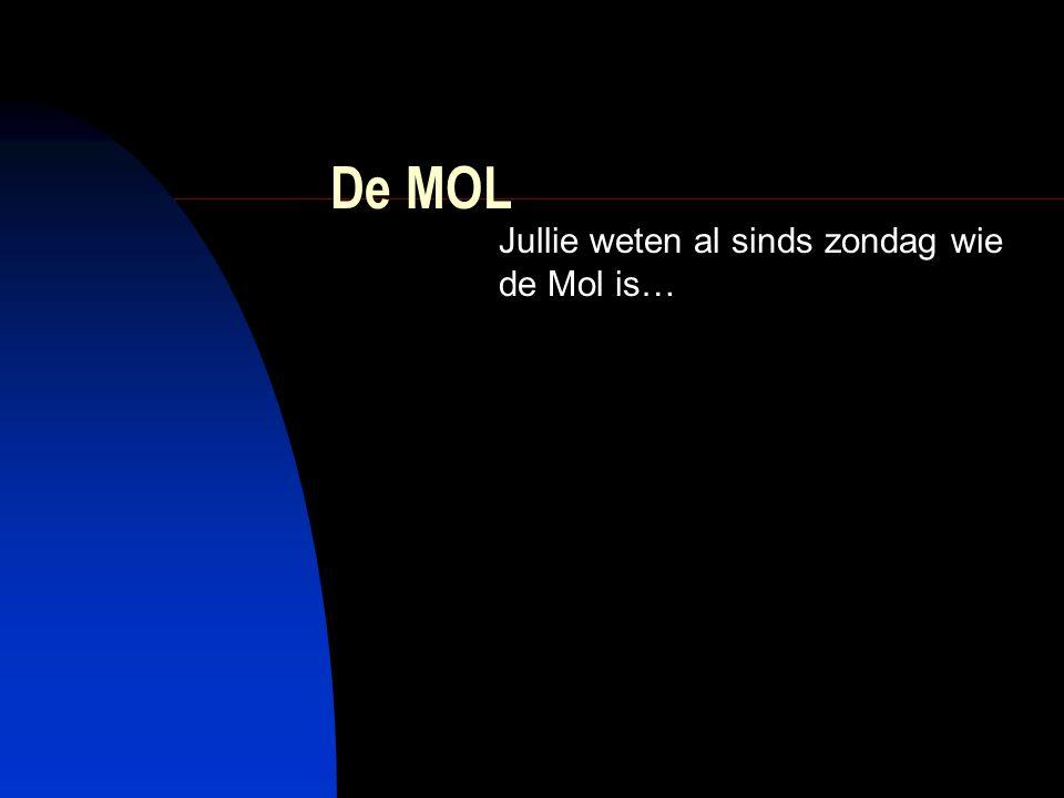 De MOL Jullie weten al sinds zondag wie de Mol is…