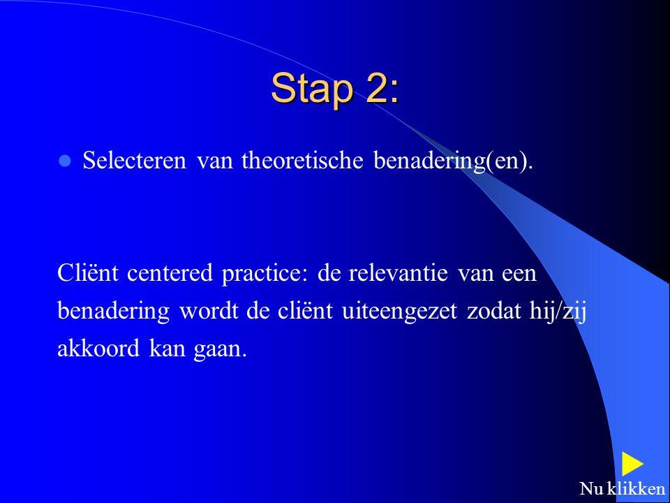 7 Stadia Stap 1: Benoemen, valideren en prioriteiten toekennen COPM------------CMOP Geen problemen, proces stopt.  Nu klikken