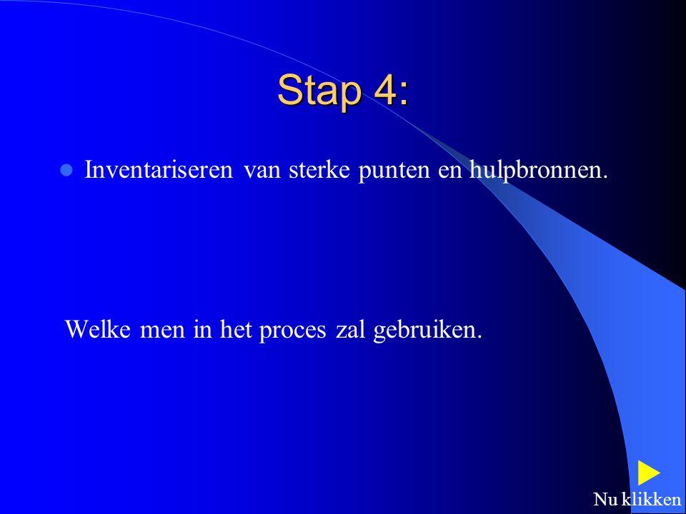 Stap 3: Inventariseren van handelingscomponenten en omgevingsfactoren. Deze die bijdragen tot handelingsproble(e)m(en).  Nu klikken